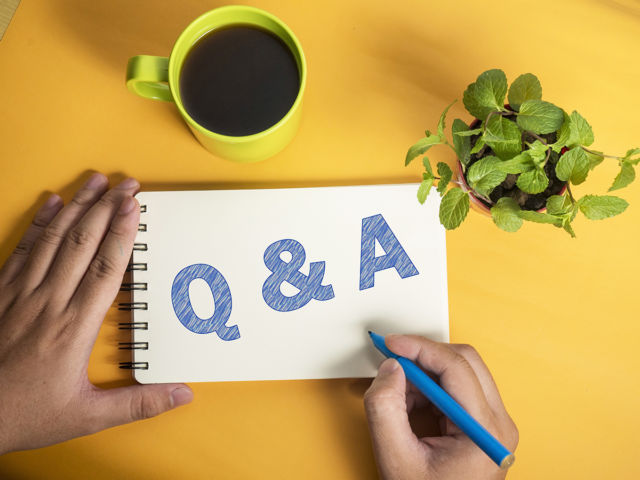 Q & A, Questions and Answers. Words Typography Concept